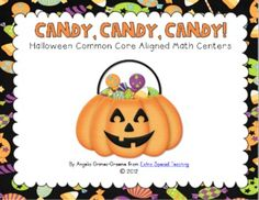 Candy, Candy, Candy - 6 Halloween themed math centers that are Common Core aligned for 1st and 2nd grade.