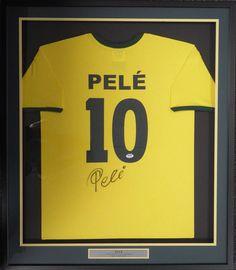 CBD Brazil Pele Autographed Framed Yellow Copa Mundo Short Sleeve Jersey  PSA DNA 416a77296638c