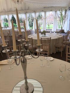 Plain Candelabra Wedding Reception Decor