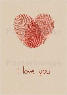 Premium Poster Winter Kids (Englisch) - Ohkimiko - be my Valentine! Mothers Day Crafts, Valentine Day Crafts, Be My Valentine, Fathers Day Gifts, Diy And Crafts, Crafts For Kids, Paper Crafts, Fingerprint Heart, Father's Day Diy