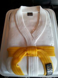 Jesse haalde zijn gele band met judo
