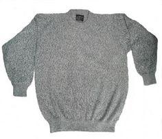 DATING NEW YORK Herren Strickpulli V 100/% MERINO Wolle grau ehemals UVP 229 E