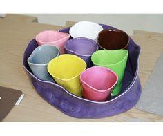 Bicchieri colorati Ceramiche Libere by Licia Martelli