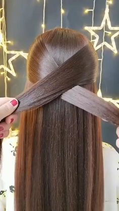 Do It Yourself Discover Ideas Easy Hairstyle Video, Easy Hairstyles For Long Hair, Braids For Long Hair, Hairstyle Hacks, Hairstyle Tutorials, Summer Hairstyles, Box Braids, Curly Hair, Hair Scarf Styles