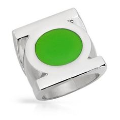 Shop for Green Enamel/ Stainless Steel Size 10 Green Lantern Ring. Get free delivery On EVERYTHING* Overstock - Your Online Jewelry Shop! Get in rewards with Club O! Geek Jewelry, Jewelry Rings, Jewlery, Green Lantern Power Ring, Mens Stainless Steel Rings, Geek Chic, Toe Rings, Modern Jewelry, Jewelry Stores