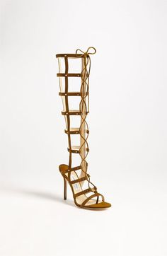 Jimmy Choo 'Mogul' Caged Sandal Boot available at Nordstrom  Not that I could wear these,  but.... wouldn't it be nice to have really long legs to pull it off