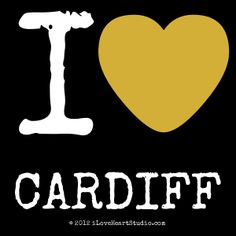 'i [Love heart] cardiff' design on t-shirt, poster, mug and many other products I Love Heart, My Love, Cardiff, Dublin, London, Studio, T Shirt, Poster, Design