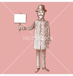 Vintage Gentleman Doodle vector by dvoriankin on VectorStock®