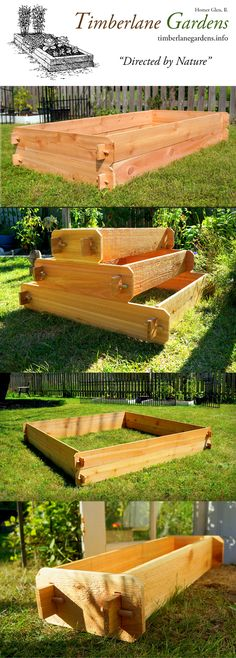 Cedar Raised Beds & Planters. Installs in seconds!  Timeless style, fine craftsmanship and practical design. Affordable hand-crafted raised garden beds, planters and garden décor from Timberlane Gardens.