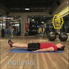 6 haftada fit programının 3. haftasının yedinci hareketi: LYING LEG RAISE
