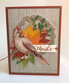 At Home Stamping: Fall Cardinal Fall Cards, Holiday Cards, Christmas Cards, Christmas 2019, Halloween Cards, Fall Halloween, Fusion Card, Pirate Day, Stamping Up Cards