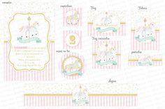 Kit Digital Carrossel Rosa e dourado    Os kits digitais da Charme Papeteria são personalizados, criados especialmente para você. Você pode escolher um tema do nosso portfólio ou um tema novo, mediante confirmação de disponibilidade. Nosso portifólio: http://www.elo7.com.br/kits-digitais/al/3BA8E...