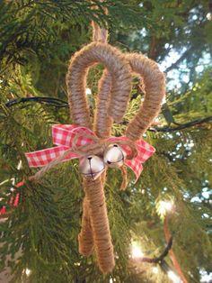 Twine Candy Cane Ornament www.adorbymelissa.com