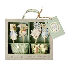 Peter Rabbit Themed Cupcake Kit with 24 Liners and Picks by Meri Meri - birthday party and baby shower supplies and ideas - Contact Things & Stuff Events to purchase https://www.etsy.com/shop/ThingsandStuffEvents