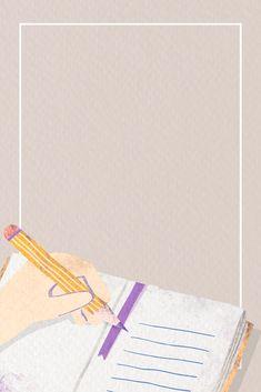 Free Wallpaper Backgrounds, Framed Wallpaper, Cute Wallpapers, Frame Background, Beige Background, Creative Background, Powerpoint Background Design, Note Doodles, School Frame