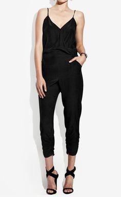 Parker Black Jumpsuit | VAUNTE