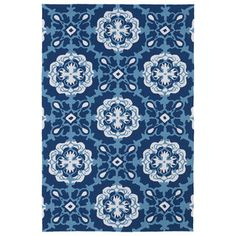 Indoor/ Outdoor Luau Blue Paradise Rug (3' x 5') | Overstock.com Shopping - Great Deals on 3x5 - 4x6 Rugs