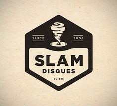Slam Disques - french record company logo by Chad Lowe Submitted by chadmadeit Typography Logo, Logo Branding, Branding Design, Logan, Record Label Logo, Brewery Design, Music Logo, Logo Concept, Monogram Logo