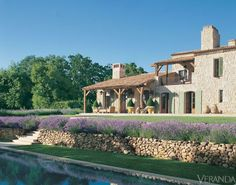 Nice idea with all the lavender and the small rock wall just before the pool.