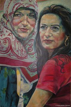 Schwestern | Acryl auf Leinwand   80 x 120 cm | 2005
