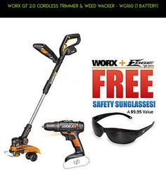 Worx GT 2.0 Cordless Trimmer & Weed Wacker - WG160 (1 Battery) #fpv #camera #1 #shopping #gadgets #parts #plans #products #drone #racing #kit #trimmers #tech #technology