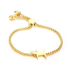 Gold Plated Adjustable Bracelet