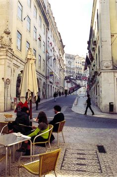 | ♕ |  Old street corner cafe in Lisbon  | by © Peter Gutierrez | via ysvoice