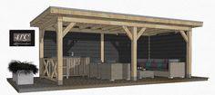 vrijstaande douglas overkapping, houten overkapping kopen, maatwerk in Amerfoort bij de veranda specialist