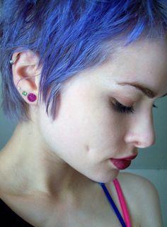 not your grandma's blue hair