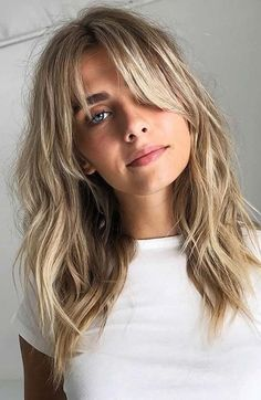 Blonde Hair Long Fringe Hairstyles, Frontal Hairstyles, Hairstyles Haircuts, Wedding Hairstyles, Latest Hairstyles, Long Length Hairstyles, Long Shaggy Haircuts, Popular Hairstyles, Celebrity Hairstyles