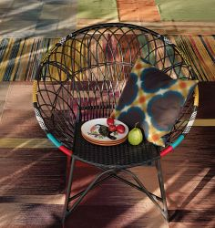 Armchair Rio and Cushion Morissen by Pfister, Club Tropicana, Indoor Ideas, Furnishing and Decoration Ideas, Decoration Club Tropicana, Armchair, Tropical, Cushions, Indoor, Rio, Decoration, Home Decor, Ideas