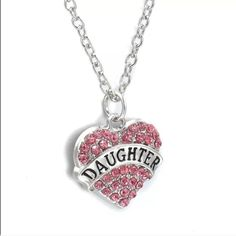 Pink daughter necklace Nwot! Perfect gift for your daughter!! Jewelry Necklaces
