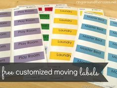 how to stay organized during a move AND free customized moving labels
