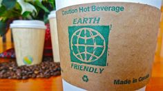 Eco cups with sleeve Eco Cup, Compost, Plant Based, Coffee Cups, Beverages, Canning, Tableware, Sleeve, Hot
