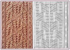 Gallery.ru / 81 - Образцы и схемы узоров спицами (часть 1 - восточные) - HelenaKovgan