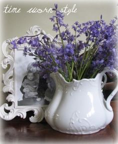 Flowers have never looked better than in a ironstone pitcher. Agreed