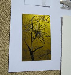 my printmaking journey: back in the studio - solar plate experimentations ...