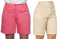 Bermuda simples – Marlene Mukai Sewing Pants, Sewing Clothes, Diy Clothes, Crop Top And Shorts, Bermuda Shorts, Crop Tops, Como Fazer Short, Shirt Blouses, Shirts
