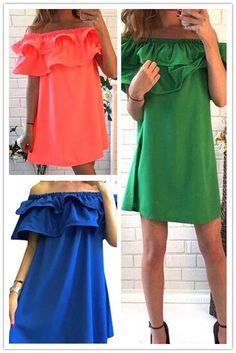 Frill Off The Shoulder Dress