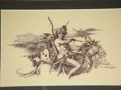 Roy Krenkel Warrior on Horse Drawing Comic Art