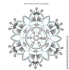 """Вязание ажурной скатерти """"Снежинки"""" - Ярмарка Мастеров - ручная работа, handmade"""