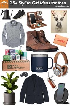 Finding the perfect gifts for men isn't always an easy endeavor. Our list of the best men's gift ideas showcases the coolest stuff he's sure to love! Fashion 2020, Daily Fashion, Men's Fashion, Mens Winter Fashion Essentials, Stylish Men, Men Casual, Best Gifts For Men, Mens Joggers, Gift Ideas