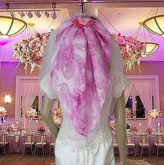 Flower Veil  Pink Veils  Wedding Veils  Pink by AVCustomDesigns, $150.00 https://www.etsy.com/listing/193047314/flower-veil-pink-veils-wedding-veils
