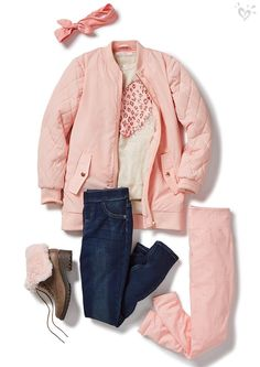 Head-to-toe soft pink = the perfect way to start the day with a rosy outlook!