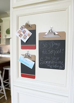 How To Make Chalkboard Clipboards