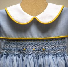 Smocked Dress Blue by leapinglizzie on Etsy