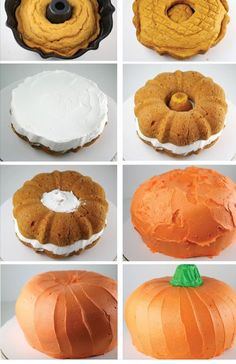 DIY Pumpkin Cake #fall #Thanksgiving #Halloween