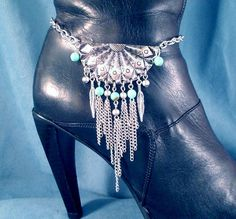 Unique Handmade Gift for you or a Friend.  CONDITION: Brand New STYLE: boot accessory or shoe jewelry ITEM: one single boot chain OR necklace