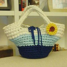 Capazo niña coleccion EMMA azulon, azul claro y blanco