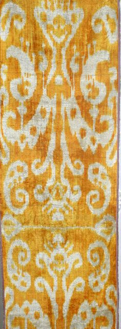 Yuner / Silk Velvet uzbek ikat fabric 3 yard от YUNERSHOP на Etsy